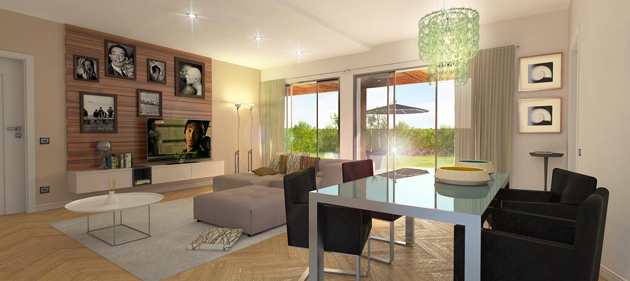 Soggiorno con divano e tavolo idee per il design della casa - Divano e tavolo da pranzo ...